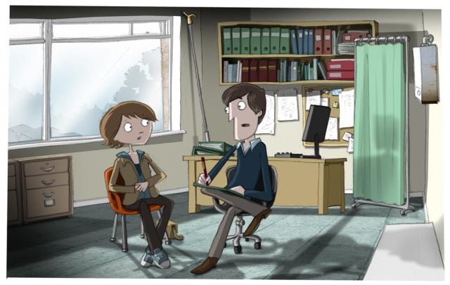 In the psychiatrist's office