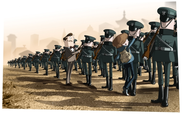 Inspecting the army