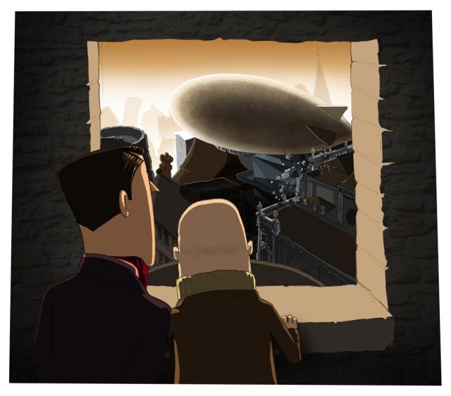 the airship rises