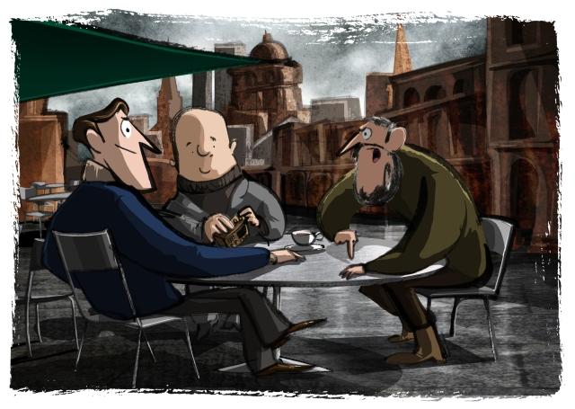 a meeting at Florian's