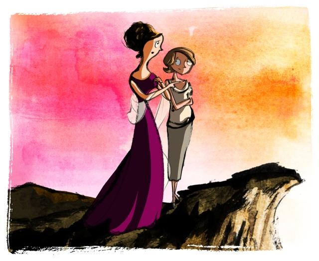 clifftop gazing